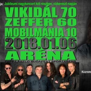 Vikidál 70, Zeffer 60 és MOBILMÁNIA 10 jubileumi koncert! Jegyek itt!