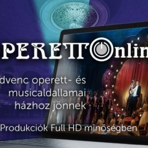 Operett Online címmel indul a Budapesti Operettszínház online előadás sorozata!